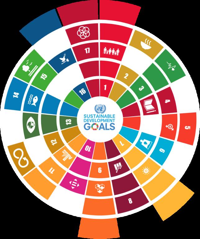 57% do desembolso em sintonia com os Objetivos de Desenvolvimento Sustentável (ONU), que emolduram a estratégia de atuação do Banco.